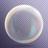 Transparency Bubble. Soap Or Underwater Or Water Bubble. Vector Illustration On Gray Background. Stock Photo