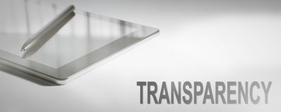 TRANSPARENCY Business Concept Digital Technology. Graphic Concept Stock Image