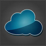 Transparency cloud computing icon Stock Images