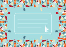 Transparency Cocktail menu design background Royalty Free Stock Photo