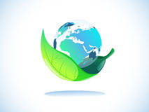 Earth in leaf Royalty Free Stock Image