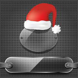Transparency plates with santa claus hat Royalty Free Stock Images