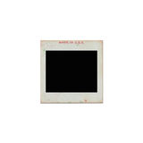 Transparency slides with inscription made in U.S.A on white background Royalty Free Stock Images