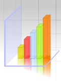 Transparent 3d graph Stock Photos