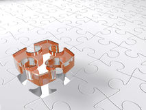 Transparent 3D puzzle Royalty Free Stock Photography