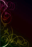 Transparent abstract floral background Royalty Free Stock Image