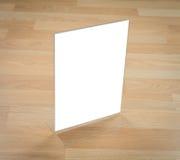 Transparent acrylic table stand menu Stock Photo