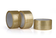 Transparent adhesive tapes Royalty Free Stock Image