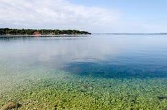 Transparent Adriatic. Beautiful Adriatic coast near Zadar, Croatia Stock Photo