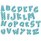 Transparent alphabet Stock Images