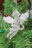 Transparent angel Christmas ornament tree, detail, close up Royalty Free Stock Photography