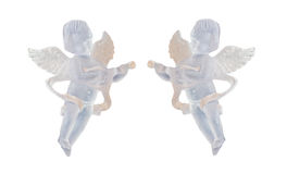 Transparent Angel ornament for Christmas tree, wings, singing, hanging, isolated, close up Stock Image