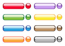 Transparent aqua buttons Stock Photography