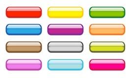 Transparent aqua buttons set Stock Images