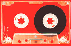 The transparent audio-cassette Royalty Free Stock Photo
