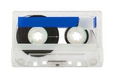 Transparent audio cassette Stock Photography