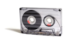 Transparent audiocassette Royalty Free Stock Image