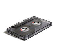 Transparent audiocassette Royalty Free Stock Photo