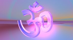 Transparent aum / om Stock Image