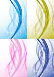 Transparent background with abstract wave Stock Image
