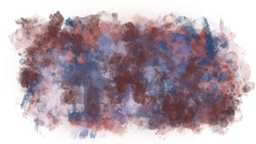 Sprawling colored blob. On a transparent background the color water-color blob spreads royalty free illustration