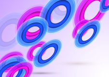 Transparent background with colorful rings. Clip-art royalty free illustration