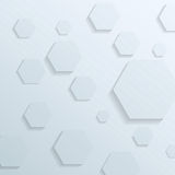 Transparent background with hexagon elements Royalty Free Stock Images