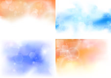 Transparent backgrounds collection Royalty Free Stock Images