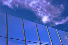Transparent baffle. Against the blue sky Royalty Free Stock Photos