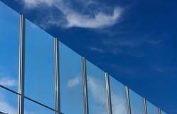 Transparent baffle. Against the blue sky Stock Photos