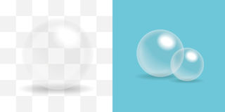 Transparent Ball, glass sphere, soap bubble . Royalty Free Stock Images