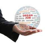 Transparent ball with inscription dream job Royalty Free Stock Image