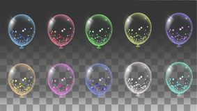 Transparent balloon on background balloons. Eps.10 Stock Photos