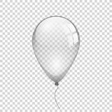 Transparent balloon on simple background. Vector illustration Royalty Free Stock Photography
