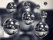 Transparent balls Royalty Free Stock Image