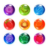 Transparent Balls With Things In The Core Set Stock Images
