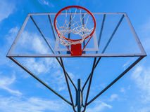 Transparent basketball hoop Royalty Free Stock Photo