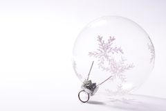 Transparent bauble Stock Photo