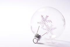 Transparent bauble. Transparent glass bauble Stock Photo