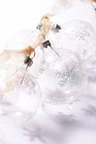 Transparent baubles. Transparetn glass baubles Royalty Free Stock Photos