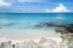 Caribbean Island Rocky Beach Royalty Free Stock Photo