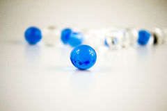 Transparent beads Stock Images