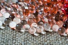 Transparent beads Stock Photos