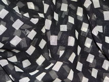 Transparent black fabric with white frames royalty free stock photography