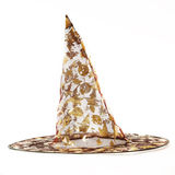 Transparent black witch hat for Halloween Stock Photos