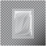 Transparent Blank Template Packaging Foil Wet Wipes Pouch Medicine. Royalty Free Stock Photography