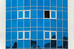 Transparent Blue Building Windows Of Business Center Royalty Free Stock Photography