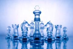 Transparent Blue Chess Stock Image