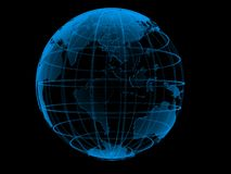 Transparent blue globe Stock Photography
