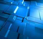 Transparent blue levels Stock Image
